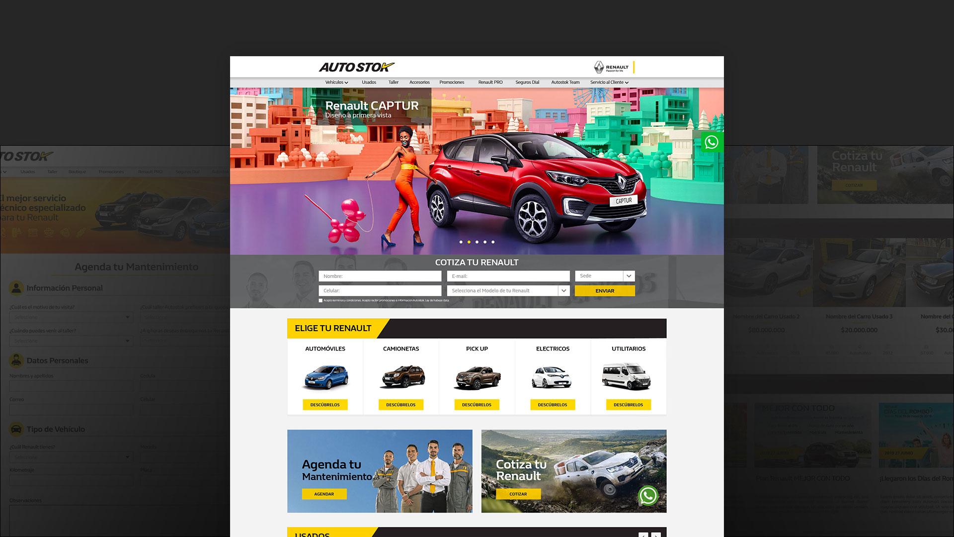 Paginas web AUTOSTOK RENAULT - MAD Agencia