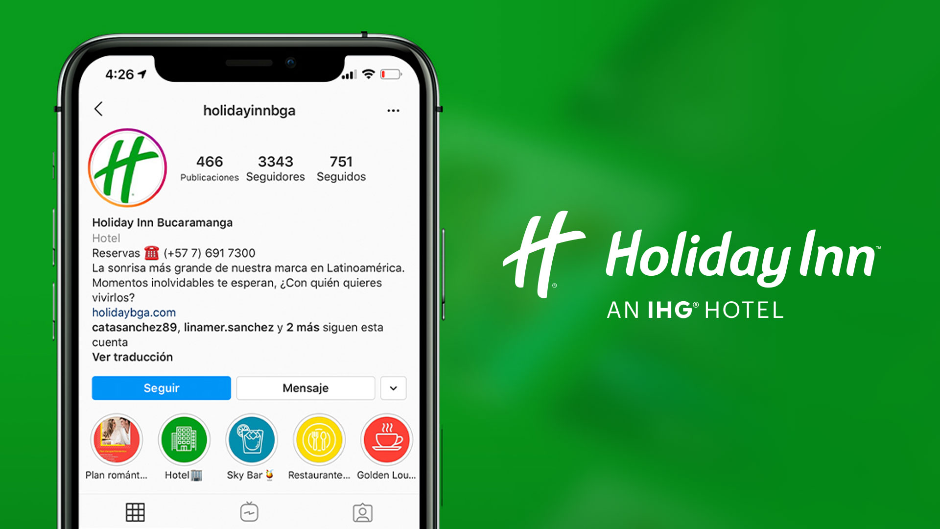 Marketing Digital para el HolidayInn - MAD agencia