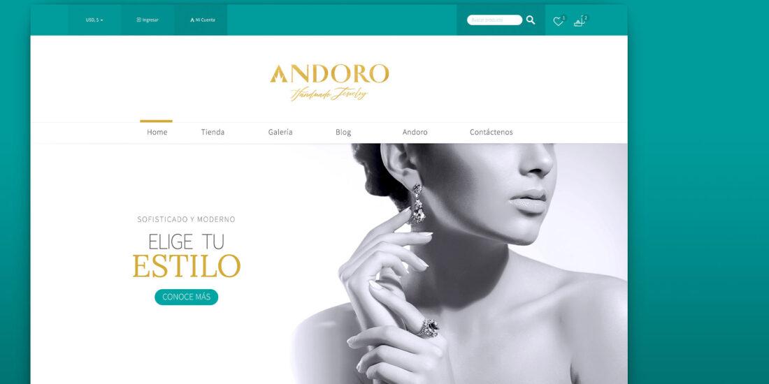 Diseño de pagina web Joyería Andoro