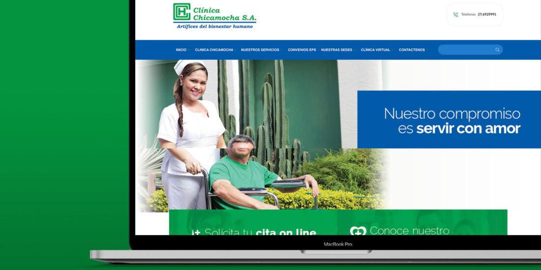 Diseño de pagina web Clinica Chicamocha