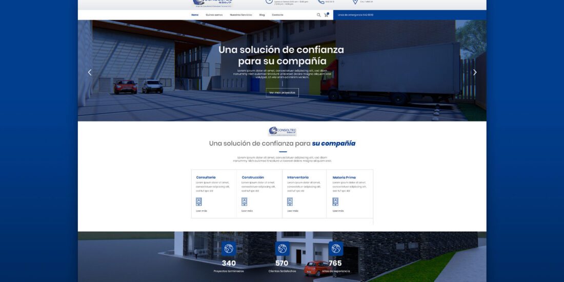 Diseño de pagina web Consoltec Group