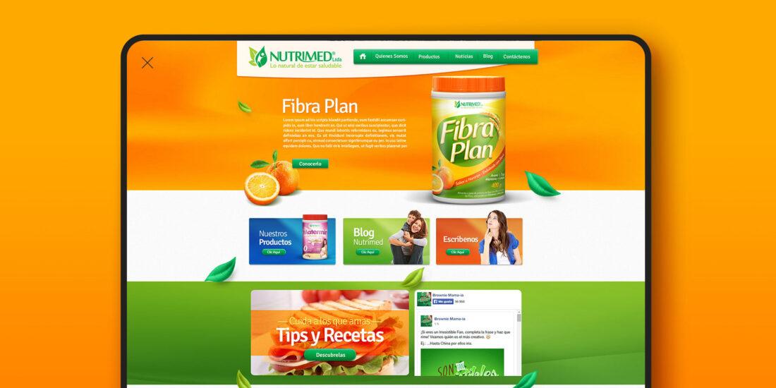 Diseño de pagina web NUTRIMED por MAD agencia
