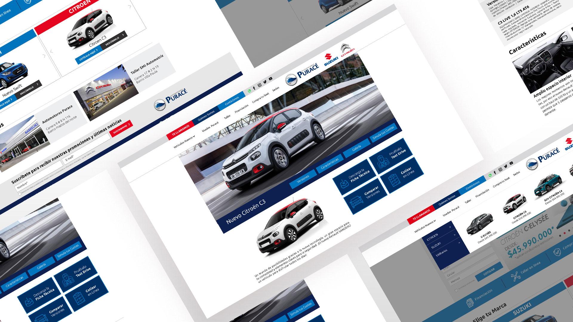 Diseñod e pagina web PURACE - MAD Agencia